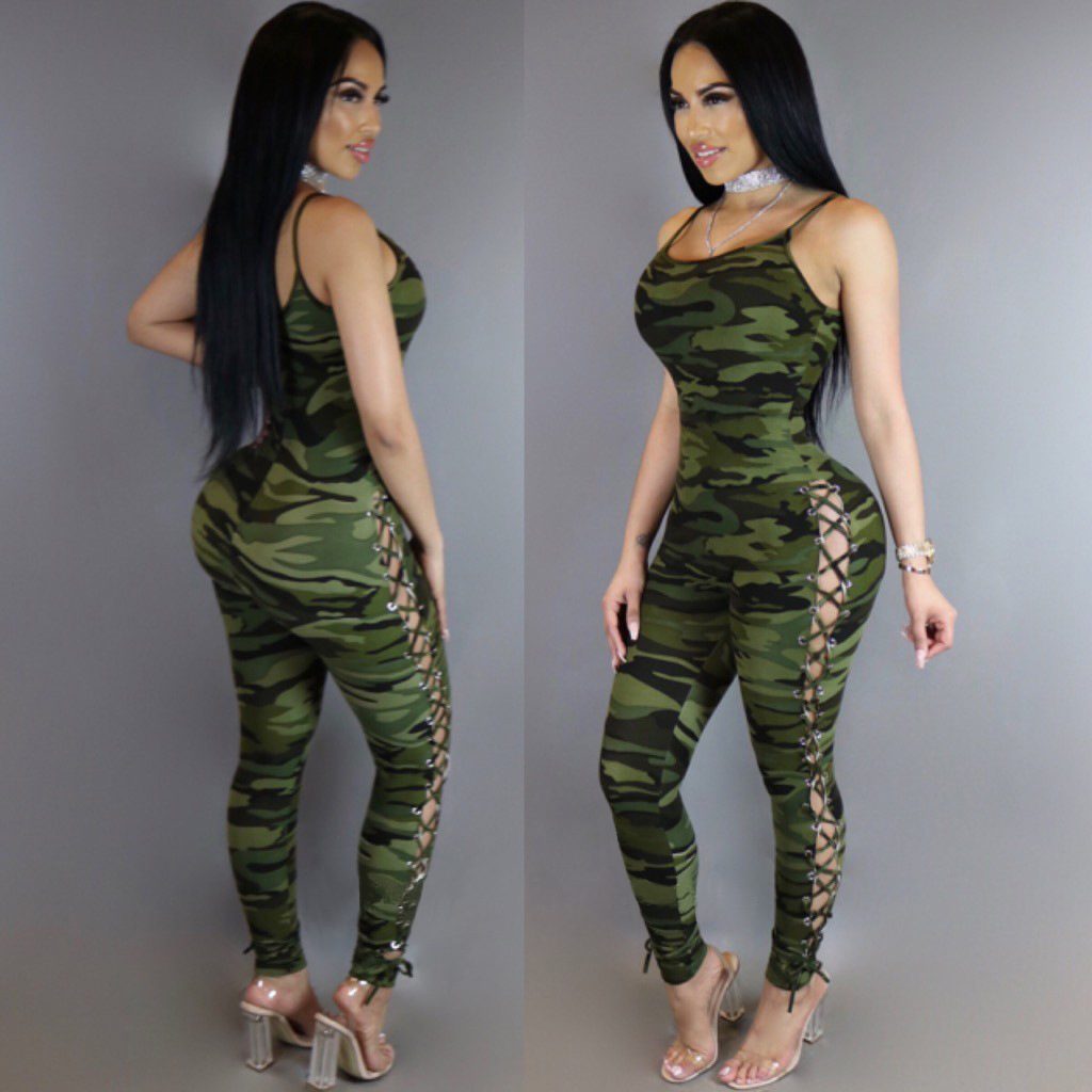Rompers Womens Jumpsuit Clothing camouflage Body Suits applique tights Leotard Bodysuit Dungarees Macacao Feminino Ropa Mujer