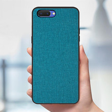 Case For oppo AX5 A3 A3S A5 Realme1 Luxury Soft Silicone+fabric Skin Protective Back Cove FOR