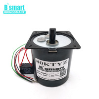 Bringsmart 80KTYZ AC Motor 220V Motor Micro Slow Speed Machine 60W Permanent Magnet Synchronous Motor 30rpm Reduction Motor