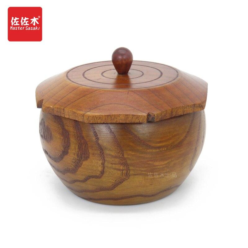 Asian style solid wood/receiving box/snack box/dried fruit box/cover/tea jar/go jar/14.5*10.5cm