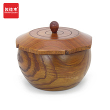Asian style solid wood/receiving box/snack box/dried fruit box/cover/tea jar/go jar/14.5*10.5cm