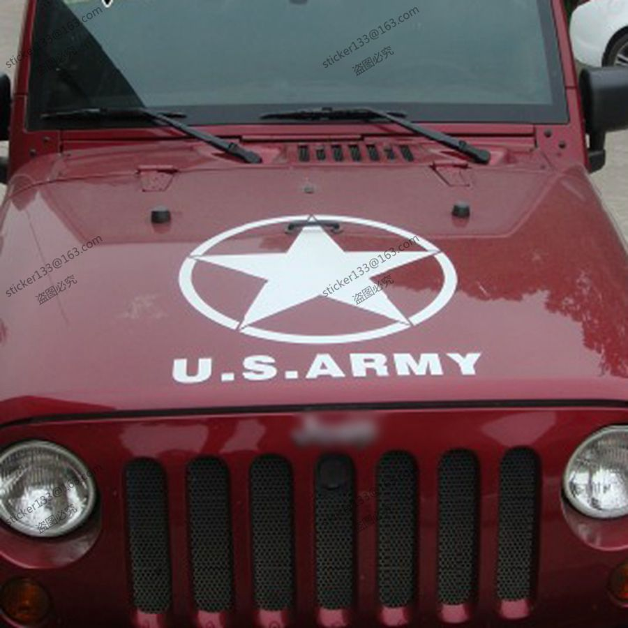 50cm high army star ww2 vinyl car decal bumper sticker fit for jeep etc in car stickers from automobiles motorcycles on aliexpress com alibaba group
