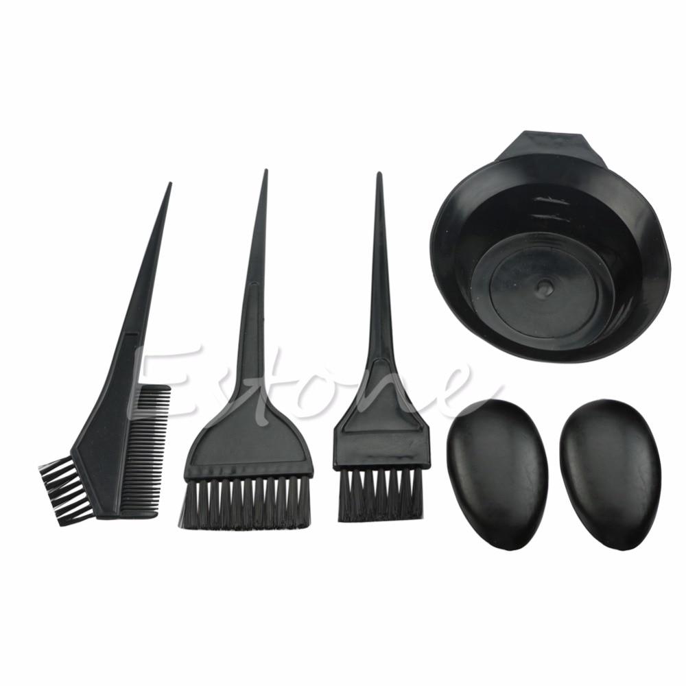 1Set 5Pcs Hairdressing Brushes Bowl Combo Salon Hair Color Dye Tint Tool Kit New High Quality