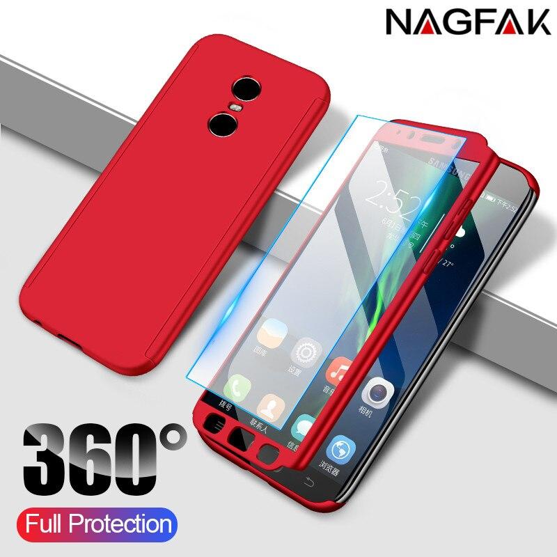 360 Pleine Couverture Protection étui de téléphone pour xiaomi Redmi Note 4 4X Pour Redmi Note 4 Version Globale Avec Verre Trempé
