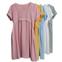 Pregnant Women 2017 New Fashion Summer Dress Maternity Dress Cotton Fat Loose Dress Casual Plus Size