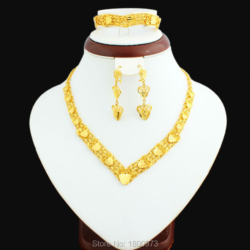 el ms nuevo color de oro dubai conjunto de joyas de oro egipcio turco argelia