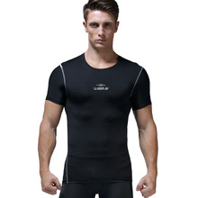UABRAV Pro Mens Sport T Shirt Short Sleeve Quick Dry Tight Fitness Running Gym Top Tee Compression Clothing Sportswear