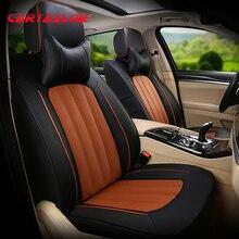 CARTAILOR Автокресло Обложка отделка для Skoda Superb чехлы для сидений автомобилей из воловьей кожи и искусственной кожи подушки сиденья набор защитных элементов