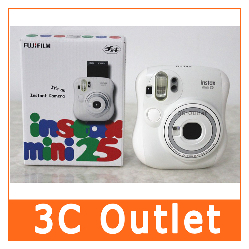 Fujifilm Instax Mini 25 Fuji Instant Film Photo Camera, Christmas/Valentine/Birthday Gift, Free Shipping fujifilm instax mini 25