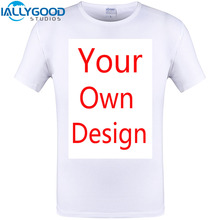 IALLYGOOD STUDIOS High Quality Customized Men T shirt Print Your Own Design Men Casual Tops Tee Shirts Plus Size S-6XL