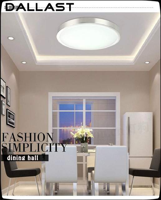 Modern Round Led Ceiling Lights Indoor Light Lamp Ac90 260v Cool White Warm 12w 24w 32w Dallast
