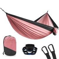 Portable Parachute Nylon Fabric Travel Ultralight Camping hamak Outdoor Furniture casual hanging bed hamac Double person Hammock