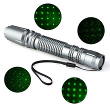 On sale Adjustable Green Color Gypsophila Glittering Stars 532NM-405NM Beam Point Laser Pointers Laser Pens With 3800mAh 18650 Battery
