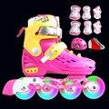 Профессиональный мягкий валик  коньки для детей  роликовые коньки  обувь  мигающие 4 колеса  уличные коньки  обувь для катания на коньках