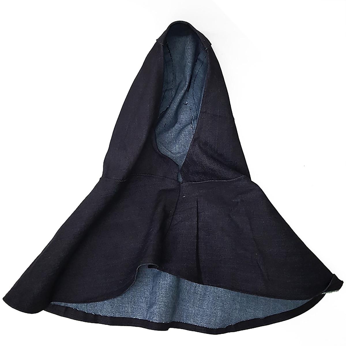 Denim Fabric Welding Head Neck Shoulder Protective Hood Cap Practical Flame Retardant Welder Safety Cover Helmet Mayitr