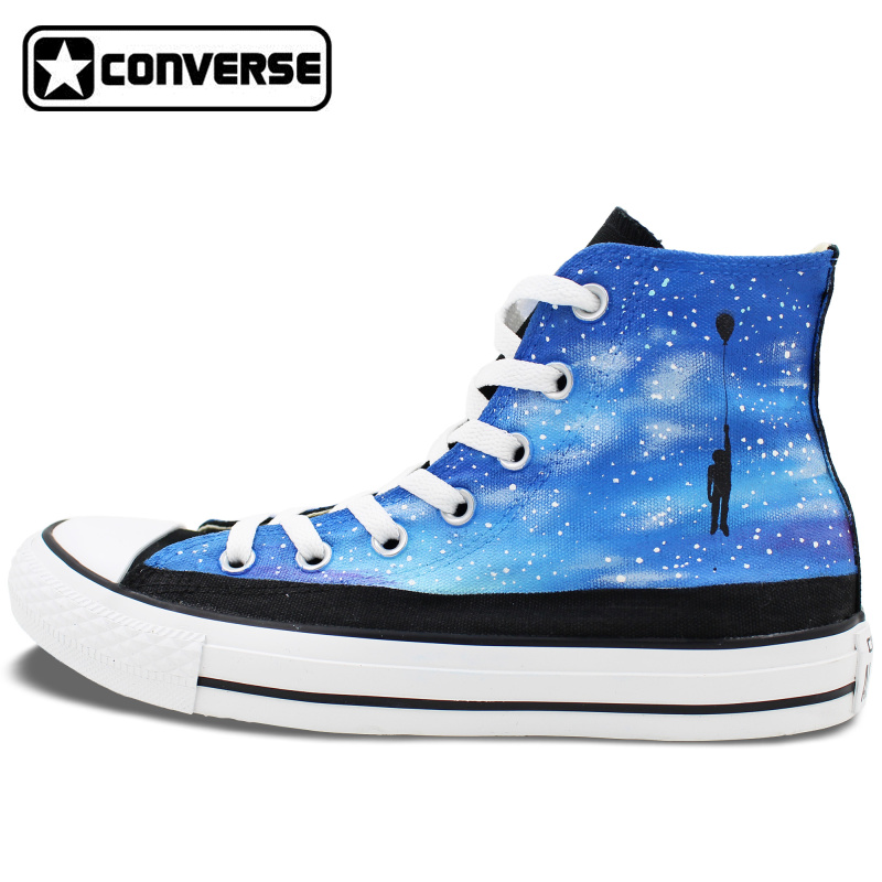Women font b Men b font Converse Chuck Taylor Nebula Galaxy Balloon Original Design Hand Painted