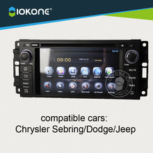 IOKONE Android 4.4 Car DVD Player For Chrysler Jeep 300C Dodge 2005 2006 2007 with GPS radio bluetooth navi WIFI CANBUS free SD