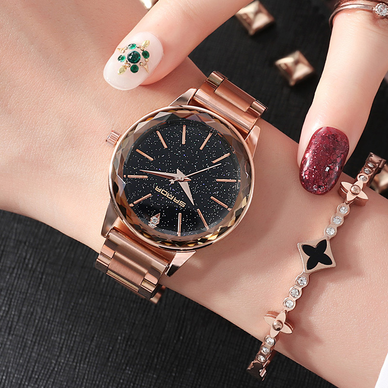 SANDA Luxury Watches Woman Diamond Bracelet Ladies Wrist Watch Luxury Brand Clock For Female Simple Style relojes de mujer P237