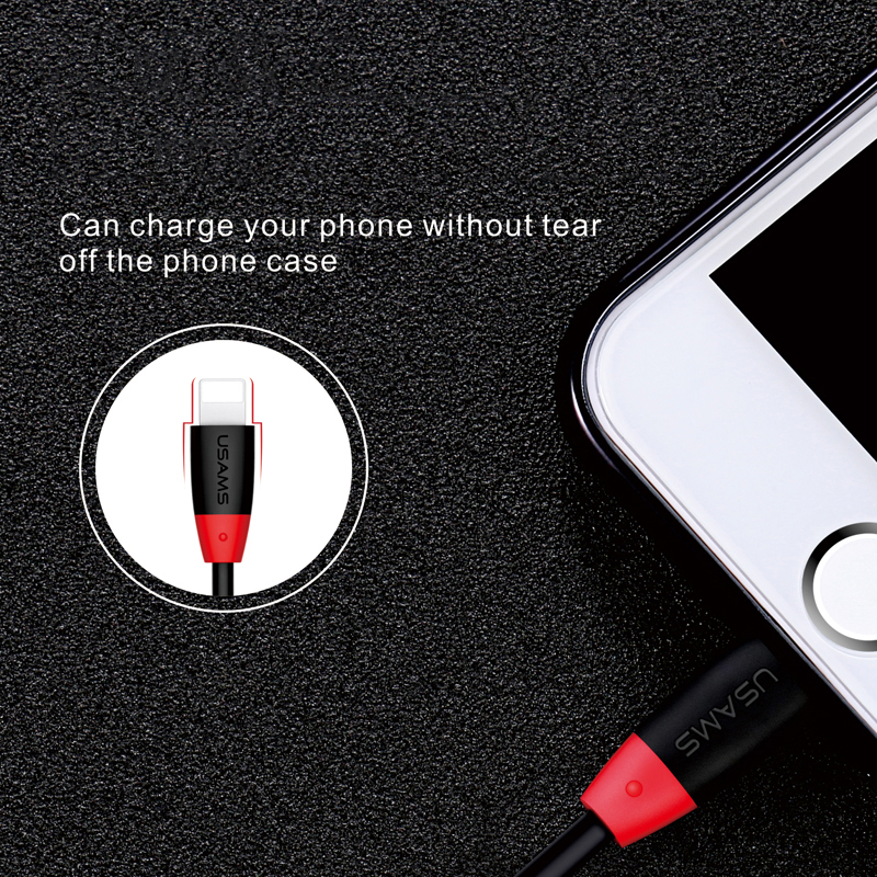 USAMS bending cable for iPhone 6 Reversible USB 2A Fast Charging Usb Cable for iPhone 7 7 plus 6 5 5s