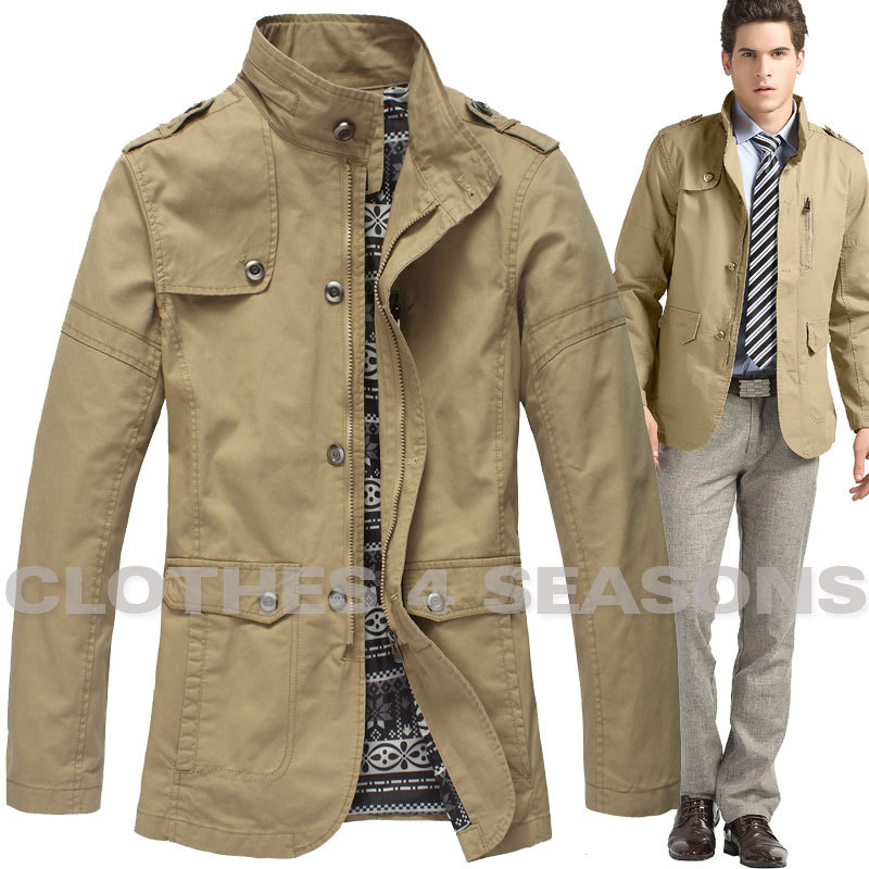 New Men Military Jacket Casual Outdoor Long Coat Men Waterproof ...