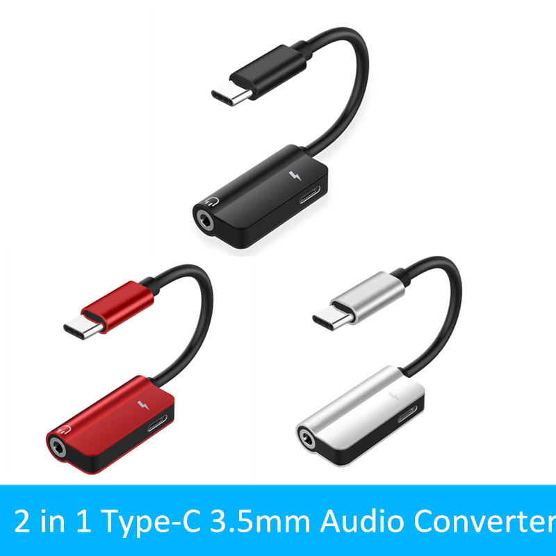 USB C To 3.5mm AUX Audio Adapter For Xiaomi 6 Huawei P20 Pro USB Type C To 3.5 Earphone Converter Fast Charging Cable