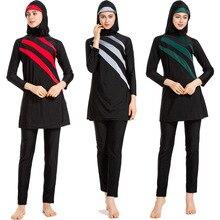 Мусульманская одежда для плавания Hajib Буркини для женщин полное покрытие консервативный Burkinis одежда для плавания плюс размер bamische Bademode