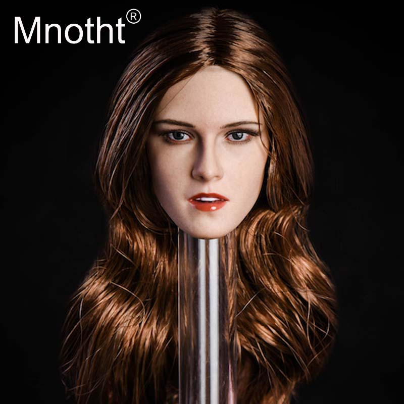 Mnotht Kristen Stewart Head Sculpt 1:6 Scale Female Soldier Resin Head Carving XY001 Model for Action Figure Toys Collection 1 6 fs010 phoebe agent kristen stewart american ultra movie full sets figure with head sculpt female body shoes jeans model m3n