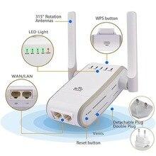 ЕС Великобритания Plug Wi-Fi ретранслятор 802.11N/B/G 300 Мбит/с Wi-Fi маршрутизаторы Диапазон Expander усилитель сигнала Extender Wi-Fi AP шифрования WPS