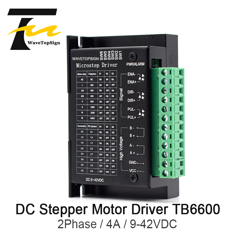 WaveTopSign 42/57/86 TB6600 Wood Router Machine Stepper Motor Driver 32 Segments Upgraded Version 4.0A 9-42VDC Milling Kits