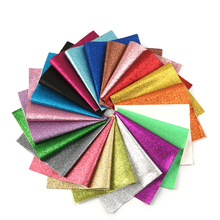 David accessories 21 colors/pack 20*34cm Superfine Glitter PVC Faux Synthetic Leather Set,DIY Sewing Garment Knotbow Bag,1Yc5437