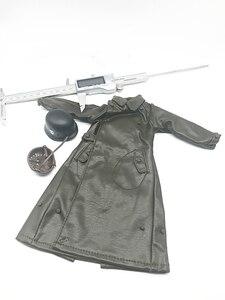 Image 3 - 1:6 スケール兵士ロングレザーコートヘルメット服モデル 12 インチアクションフィギュア