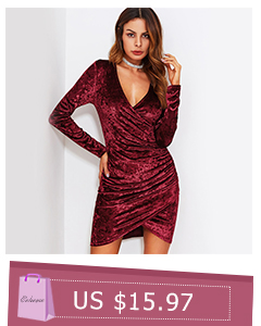 8bd843a86d355 COLROVIE Bardot Velvet Bodycon Dress With Choker Women Sexy Party ...
