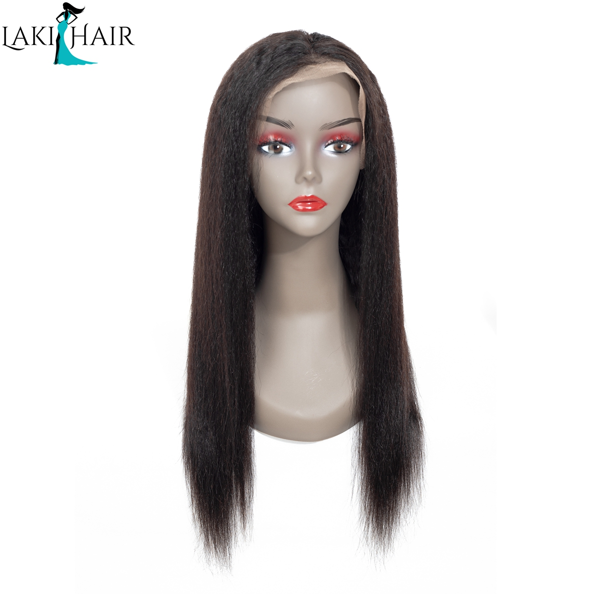 Kinky Straight Wig Lace Front Human Hair Wigs For Black Women Lakihair  Brazilian Remy Human Hair Front Lace Wigs With Baby Hair 1c1a675b8