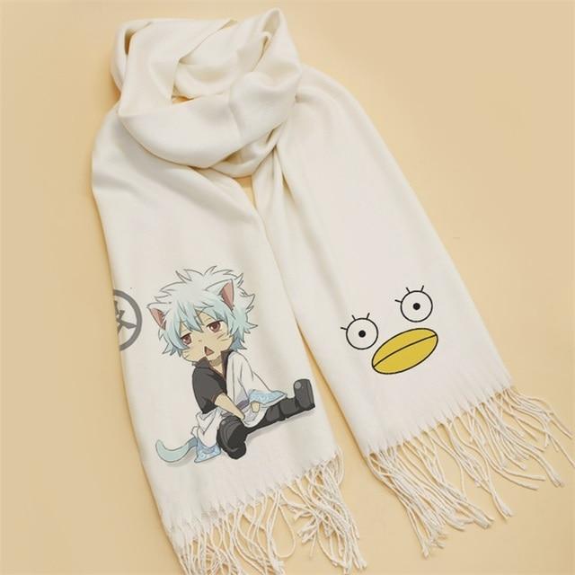 Fashion CHRISTMAS Gifts Japanese Anime Gintama scarves Sakata Gintoki Cosplay SoftScarf Shawl Scarf