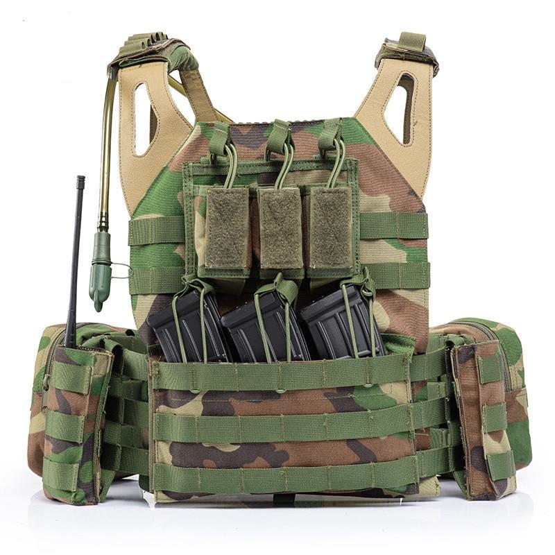 Ligero combate Molle sistema táctico chaleco al aire libre CS campo ejército entrenamiento tiro deportes proteger Chaleco con bolsa de agua - 3
