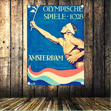 1928 Amsterdam Olympics Large Vintage Sports Poster Banner Flag Tapestry HD Senior Art Cloth Painting Wall Chart Home Decor