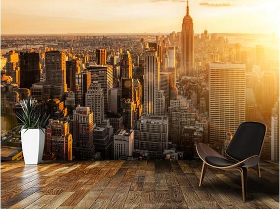 Custom Black White Retro Wallpaper Sunrise New York