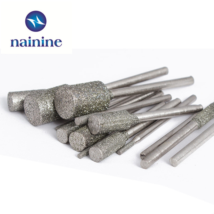 цены  5Pcs/set 3*4/5/6/8/10mm Shank Diameter 3mm Cylindrical Graphite Rod Polished Diamond Grinding Needle Grinding Carving Tool HT33