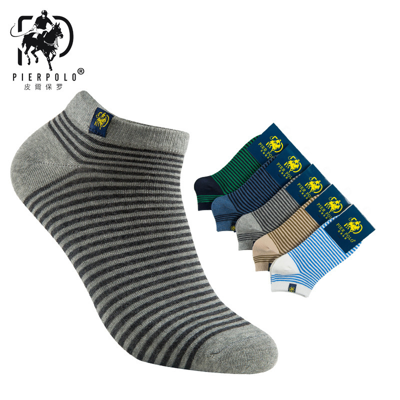2018 Rushed Mens Socks The New Korean Version Of Pier Polo Spring And Summer Striped Cloth Standard Cotton Socks Men Wholesale