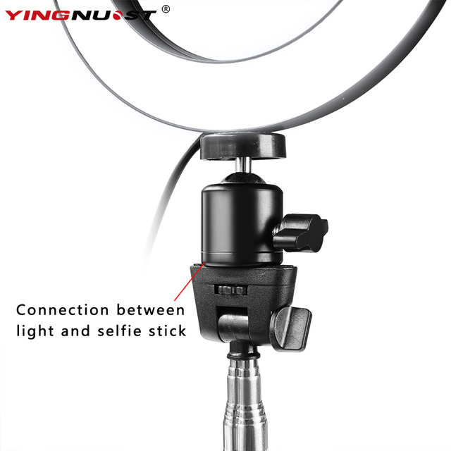 """6"""" 16cm Dimmable LED Ring Light Lamp Phone Video Lamp with Selfie Sticker Table Mini Tripod  Ring Fill Light for Makeup YouTube"""