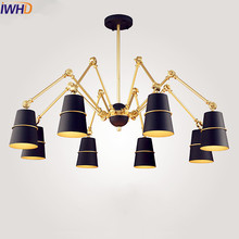 цены IWHD Nordic Modern Pendant Lamp Bedroom Hanglamp Luminaire LED Pendant Lights Fixtures Home Lighting Lampara Colgante