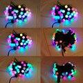 Hot!!! nova Chegada 50 RGB Bola LED Cor Mudar com 16 Pés Linkable Bola de Cordas Luzes de Natal Xmas