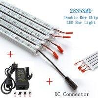5 adet/grup LED Bar Işıkları DC12V 2835 LED Sert Şerit LED Çift Sıralı çip ile Işık Tüp U Alüminyum Kabuk + PC Kapak + 5A Adaptörü