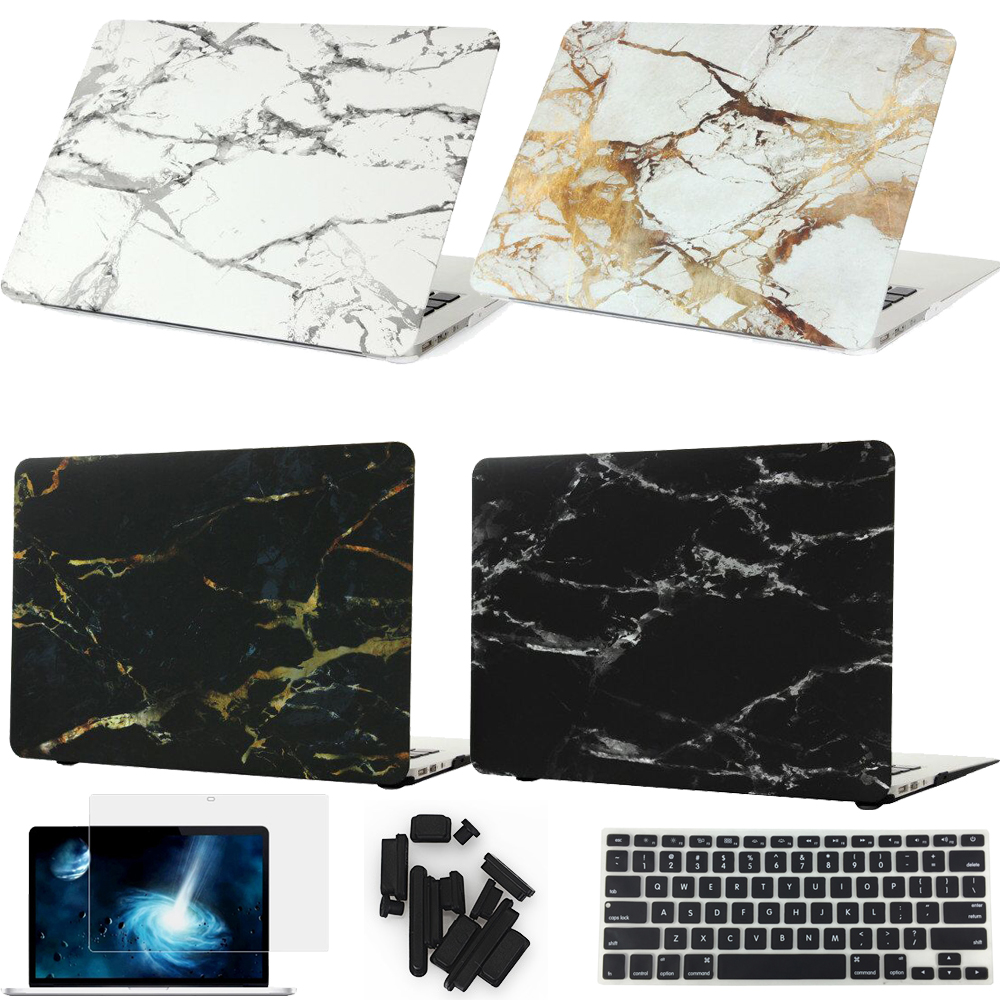 все цены на  Marble Texture Cover Case For Apple Macbook Air Pro Retina 11 12 13 15 inch For Mac book 11.6 13.3 15.4 Hard Shell Laptop Bag  онлайн