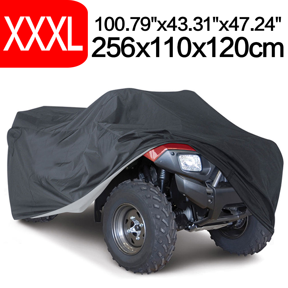 Universal Quad Bike ATV Cover 190T Beach motorcycle Protect WaterProof Anti-UV Dustproof Scooter Kart Motorbike Covers XXXL quad bike atv cover black waterproof four wheeler storage cover size l xxl xxxl