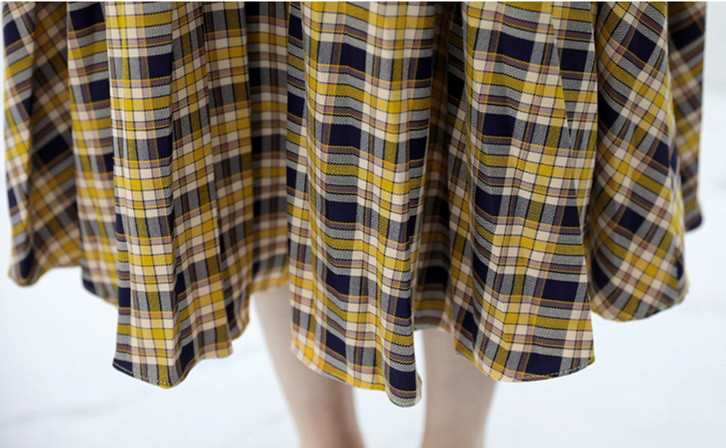 Spring Plaid Two Piece Sets Women Sweatshirt Tops And Pleated Skirt Sets Suits Casual Korean Female Women's Sets Costumes 2019 45