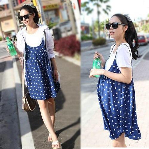 bae6117b2b Fashion Maternity Dress t-Shirt Set Plus Size Chiffon Dress tops Pregnant  Women Summer Clothes Sleeveless Camisole short-sleeve