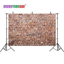 SHENGYONGBAO Vinyl Custom Photography Backdrops Brick wall theme Photo Studio Props horizontal Background BRW-12