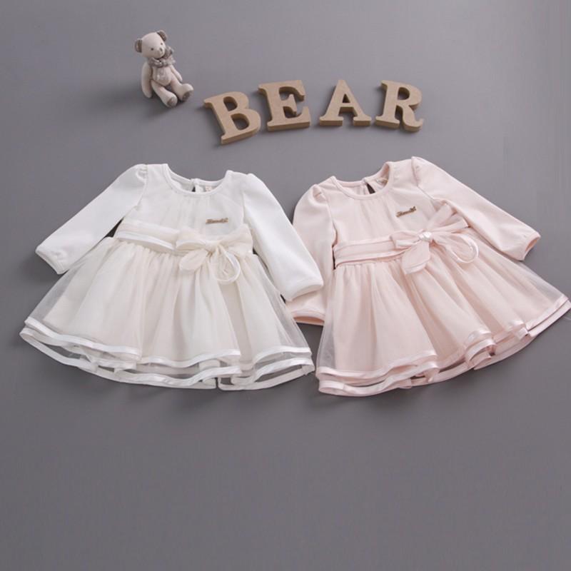 b2ed5dce0 HTB1oU04KXXXXXbGXVXXq6xXFXXXG - Retail-2018 spring bow lace dress baby  girls cute baby infant lace dress