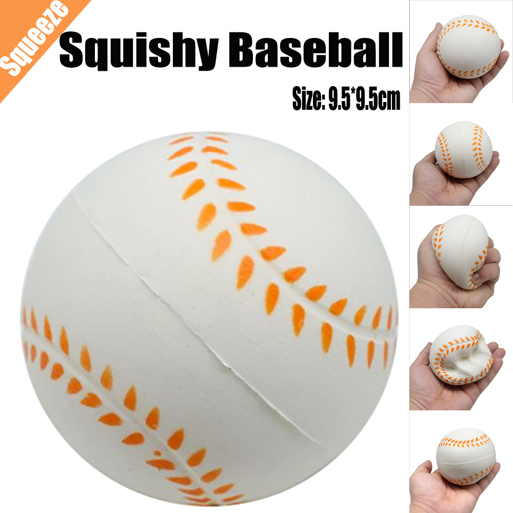 10CM Cute baseball squishy kawaii cat plastic material anti stress toy kids abs plastic type Gift Toys For Children Adult